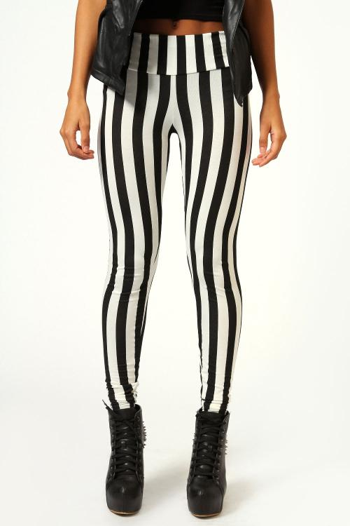 Behati Stripe Zip Trousers by THVM in Neighbors