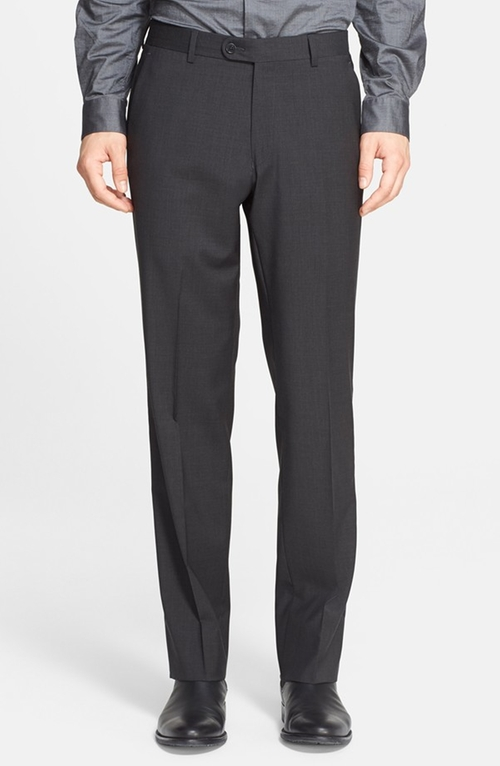 Flat Front Wool Trousers by John Varvatos Star USA in Hall Pass