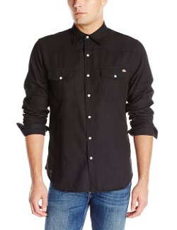 Men's Long Sleeve Solid Western Shirt by Dickies in Need for Speed