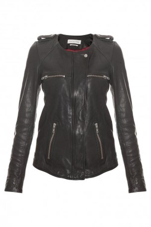 Bacuri Washer Leather Jacket by Isabel Marant Etoile in Scandal - Season 5 Episode 21