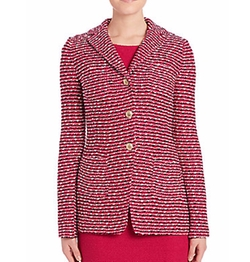 Long Knit Wool Blend Jacket by St. John in The Boss