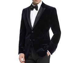 M-Line Plaid Velvet Satin-Lapel Jacket by Armani Collezioni in Shadowhunters