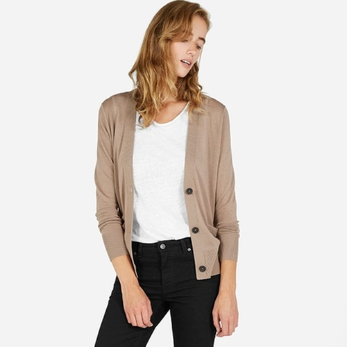The Luxe Sweater Cardigan by Everlane in The Boss