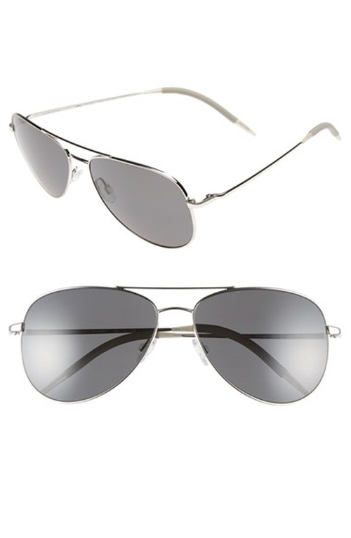 'Kannon' Polarized Aviator Sunglasses by Oliver Peoples in Keeping Up With The Kardashians - Season 11 Episode 12
