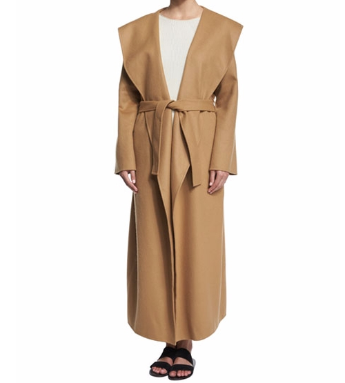 Muna Belted Long Robe Coat by The Row in Keeping Up With The Kardashians - Season 12 Episode 8