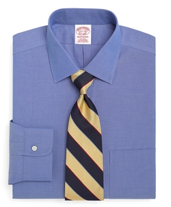 Non-Iron Traditional Fit Spread Collar Dress Shirt by Brooks Brothers in Pitch Perfect 2