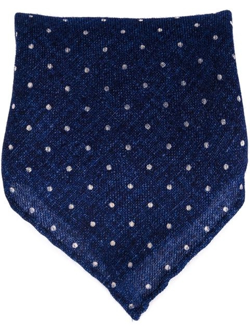 Dotted Print Pocket Square by Brunello Cucinelli in Ride Along 2
