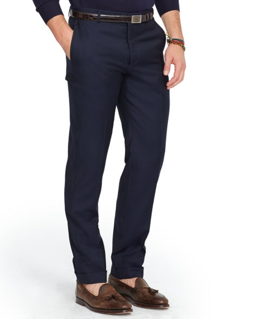 Slim-Fit Wool Twill Trouser by Ralph Lauren in Mr. & Mrs. Smith