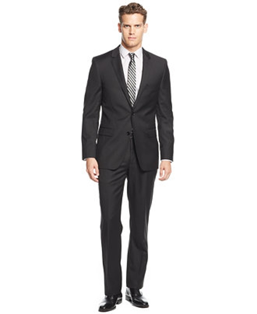 Black Solid Extra-Slim-Fit Suit by DKNY in The Loft