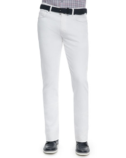 Slim Fit Five-Pocket Denim Jeans by Ermenegildo Zegna in Self/Less