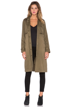 The Storm Flap Trench Coat by Current/Elliott in Keeping Up With The Kardashians