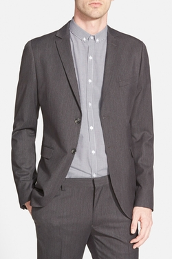 Charcoal Skinny Fit Suit Jacket by Topman in The Big Bang Theory