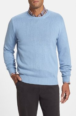 Classic Fit Silk Crewneck Sweater by Peter Millar in No Strings Attached