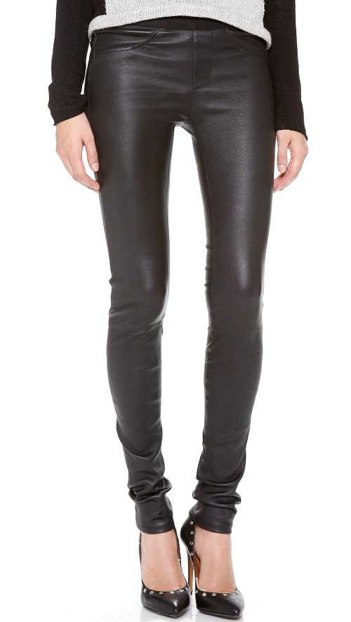 Stretch Leather Pants by Helmut Lang in Need for Speed