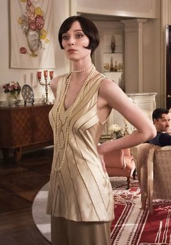 Custom Made Silk V-Neck Tank Top (Jordan Baker) by Catherine Martin (Costume Designer) in The Great Gatsby