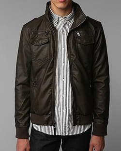 Faux-Leather Moto Jacket by Charles & 1/2 in Brooklyn Nine-Nine