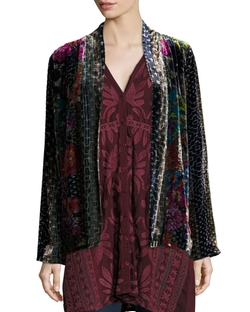 Tappa Silky Velvet Print Jacket by Johnny Was in Empire