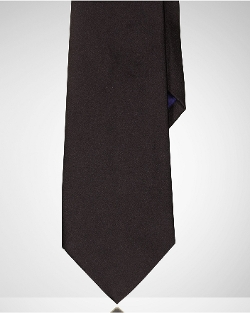 Solid Silk Satin Tie by Ralph Lauren in The Transporter: Refueled