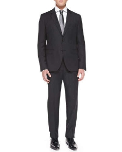 Tonal-Stripe Travel Suit by Boss Hugo Boss in The Hangover