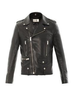 Leather Motorcycle Jacket by Saint Laurent in Yves Saint Laurent