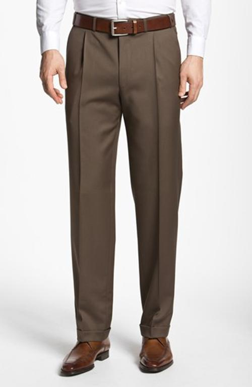 Pleated Trousers by Canali in Get On Up