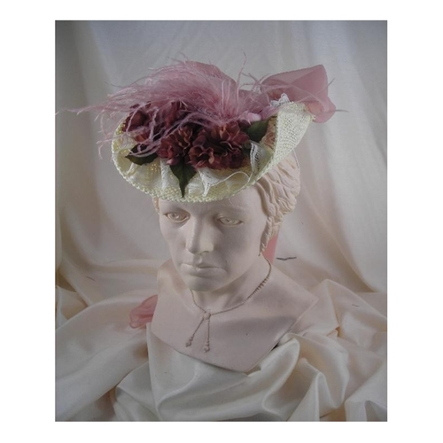 French Ivory Hat with Mauve by Blanche's Place in Crimson Peak
