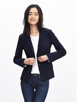 Wool Two-Button Suit Blazer by Banana-Republic in Modern Family