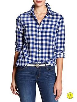 Factory Check Flannel Shirt by Banana Republic in Neighbors