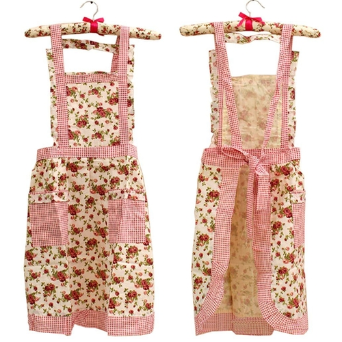 Women's Fashion Floral Cotton Chef Cooking Cook Apron by Hyzrz in The Mindy Project