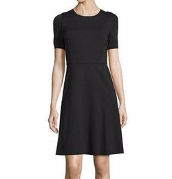 Maria Short-Sleeve Fit-&-Flare Dress by Elie Tahari in New Girl