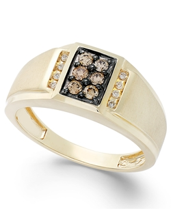 Brown Diamond And White Diamond Accent Ring by Gento By Effy in Legend