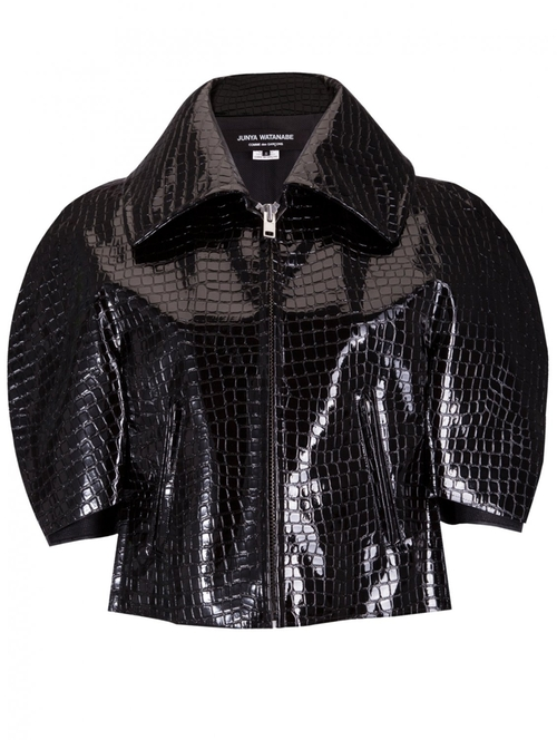 Textured Cropped Patent Jacket by Junya Watanabe in Empire - Season 2 Episode 9