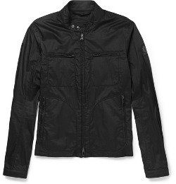 Woodburn Coated-Cotton Bomber Jacket by Bellstaff in Man of Tai Chi