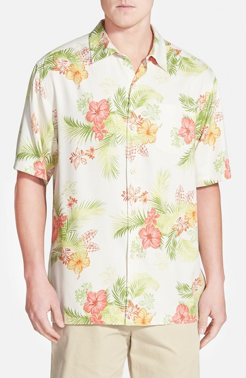 Randy quaid tommy bahama frond solo original fit short for Tommy bahama christmas shirt 2014