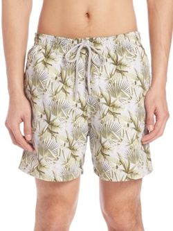 Palm Leaf Swim Trunks by Saks Fifth Avenue Collection in The Bachelorette