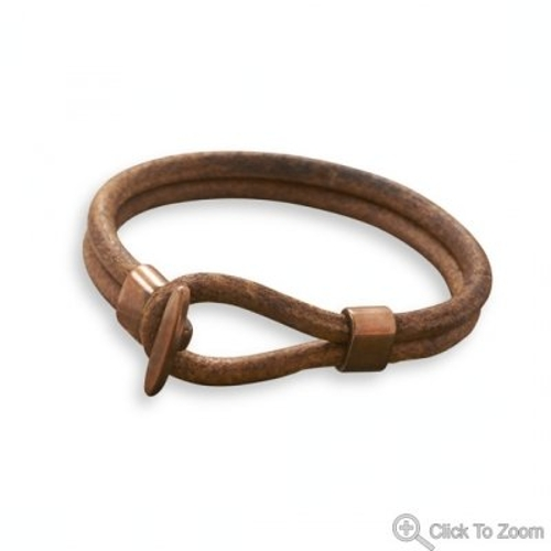 Leather and Copper Bracelet by MMA001 in The Overnight