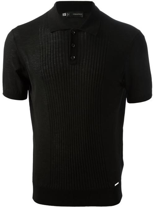 Ribbed Panel Polo Shirt by Dsquared2 in John Wick