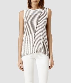 Caper Bar Tank Top by All Saints in Elementary