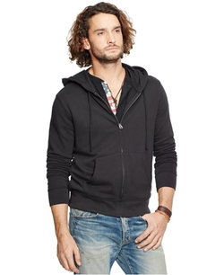 Men's American Flag-Patch Full-Zip Hoodie by Denim & Supply Ralph Lauren in Animal Kingdom
