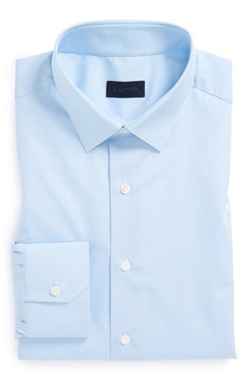 Fitted Blue Dress Shirt by Lanvin in Focus