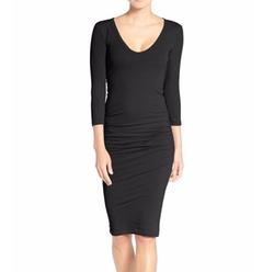 V-Neck Ruched Dress by James Perse in Will & Grace