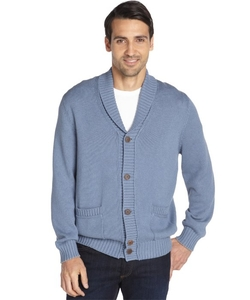 Cotton Shawl Collar Button Front Cardigan by Brunello Cucinelli in The Big Bang Theory