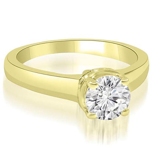 Round-cut Diamond 14k Yellow Gold Engagement Ring by Amcor in The Other Woman