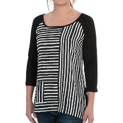 Print Scoop Neck Shirt by August Silk in What If
