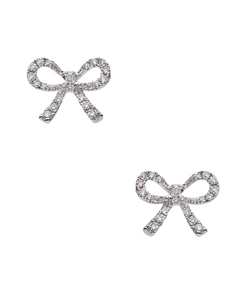 Diamond Bow Stud Earrings by KC Designs in Scream Queens