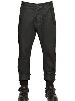 Stretch Coated Cotton Denim Trousers by Vivienne Westwood in The Expendables 3
