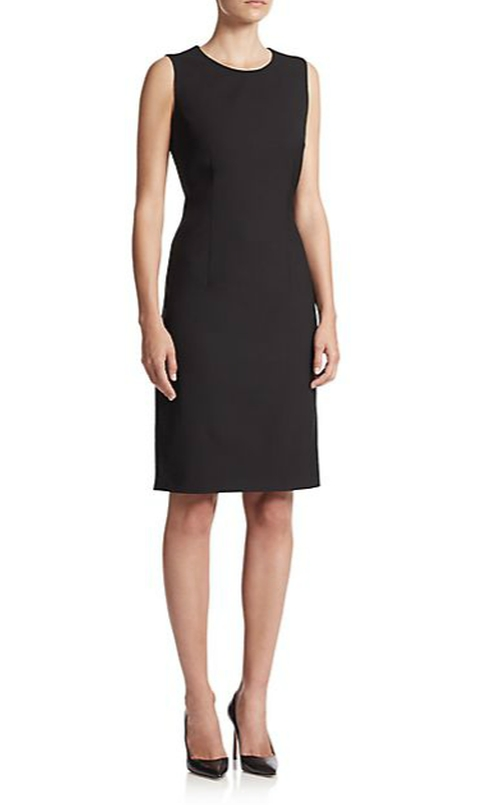 Dirusa Stretch Wool Dress by Boss Hugo Boss in By the Sea