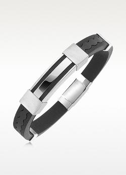 Rubber and Stainless Steel Bracelet by Forzieri in Step Up: All In
