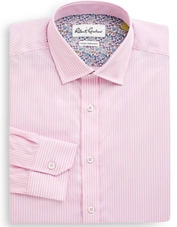 Striped Cotton Dress Shirt by Robert Graham  in Jane the Virgin