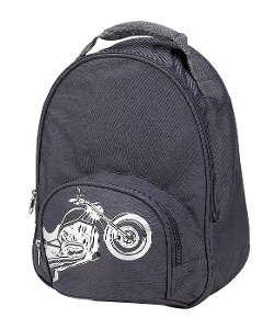 Biker Toddler Backpack by Four Peas in Crazy, Stupid, Love.